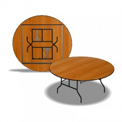 Стол раскладной, круглый, 1200x750