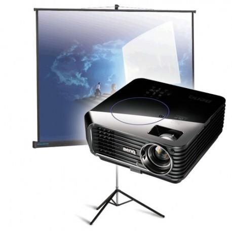 Проектор BenQ 2700 Ansi и раскладной экран в аренду