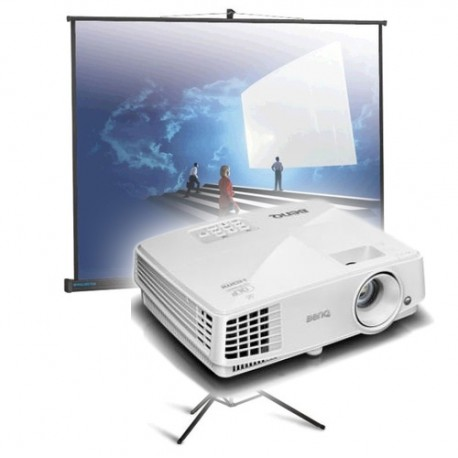 Комплект: проектор 3200 + раскладной экран 2,5м