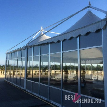 Стеклянная стена для шатра 6x6, в аренду или прокат в СПб
