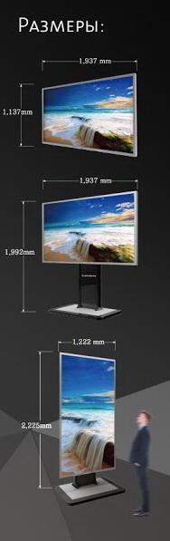 Размеры сенсорного экрана высокой четкости
