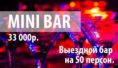 MiniBar - выездной бар с барменом, на 50 персон